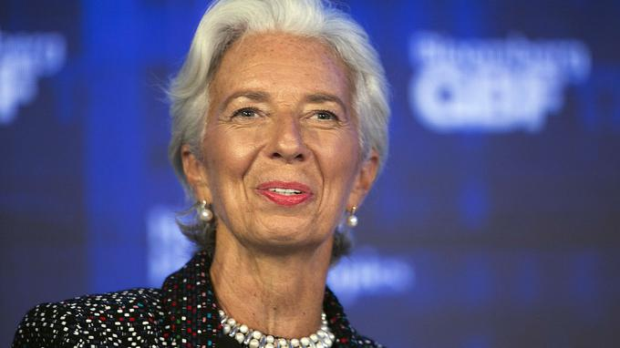 Christine Lagarde, en septembre 2017 au Global Business Forum. Mark Lennihan/AP
